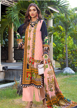 Gul Ahmed Printed Cotton Satin Unstitched 3 Piece Suit GAS19CS DCS-06 - Luxury Collection