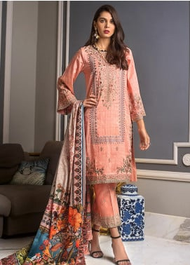 Gul Ahmed Embroidered Jacqaurd Unstitched 3 Piece Suit GAS19CS DCS-08 - Luxury Collection