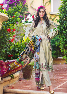 Gul Ahmed Embroidered Jacqaurd Unstitched 3 Piece Suit GAS19CS DCS-09 - Luxury Collection