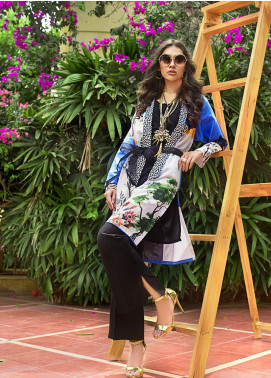 Gul Ahmed Printed Cotton Satin Unstitched Kurties GAS19CS DCSS-04 - Luxury Collection