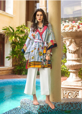 Gul Ahmed Printed Cotton Satin Unstitched Kurties GAS19CS DCSS-05 - Luxury Collection