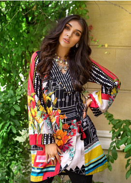 Gul Ahmed Printed Cotton Satin Unstitched Kurties GAS19CS DCSS-06 - Luxury Collection