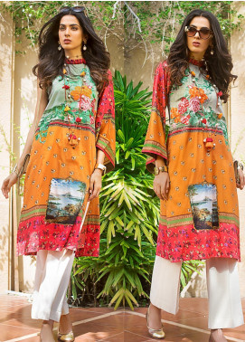 Gul Ahmed Embroidered Cotton Satin Unstitched Kurties GAS19CS DCSS-07 - Luxury Collection