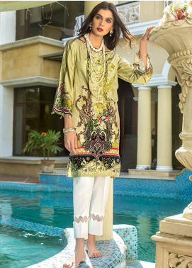 Gul Ahmed Embroidered Cotton Satin Unstitched Kurties GAS19CS DCSS-08 - Luxury Collection