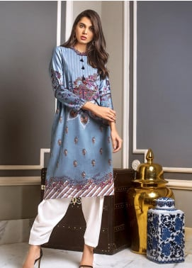 Gul Ahmed Printed Cotton Satin Unstitched Kurties GAS19CS DCSS-09 - Luxury Collection
