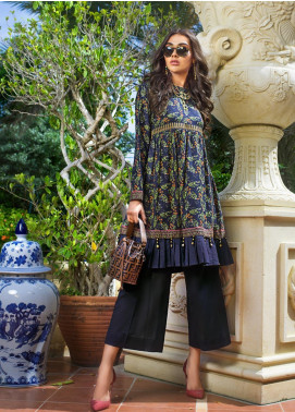 Gul Ahmed Printed Cotton Satin Unstitched Kurties GAS19CS DCSS-10 - Luxury Collection