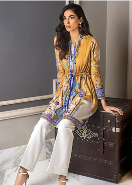 Gul Ahmed Printed Cotton Satin Unstitched Kurties GAS19CS DCSS-12 - Luxury Collection