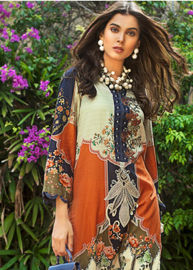 Gul Ahmed Embroidered Cotton Satin Unstitched 2 Piece Suit GAS19CS TDCS-02 - Luxury Collection