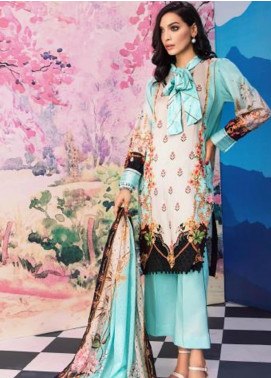 Gul Ahmed Jacquard Printed Satin Unstitched 3 Piece Suit GA20SH DCS-32 FEROZI - Winter Collection