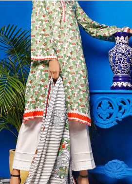Gul Ahmed Printed Lawn Unstitched 2 Piece Suit GA20SE 11 TLP-16-B - Spring / Summer Collection