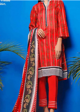 Gul Ahmed Printed Lawn Unstitched 2 Piece Suit GA20SE 11 TLP-17-A - Spring / Summer Collection