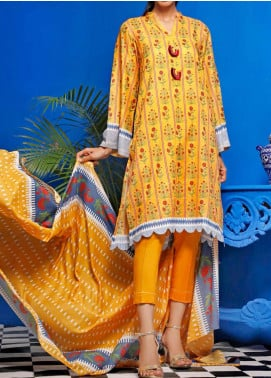 Gul Ahmed Printed Lawn Unstitched 2 Piece Suit GA20SE 11 TLP-17-B - Spring / Summer Collection