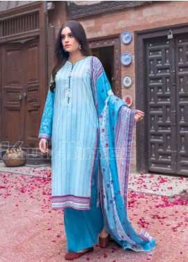 Gul Ahmed Embroidered Lawn Unstitched 3 Piece Suit GA20SBL CL 737 - Summer Collection