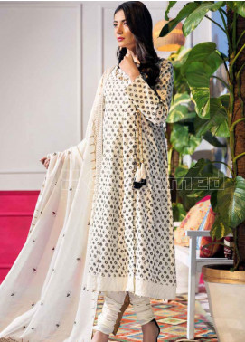 Gul Ahmed Embroidered Schiffli Unstitched 3 Piece Suit GA20SBL CL 815 - Summer Collection