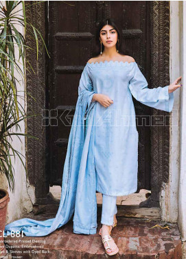 Gul Ahmed Embroidered Lawn Unstitched 3 Piece Suit GA20SBL CL 881 - Summer Collection