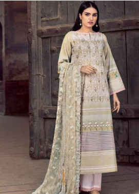 Gul Ahmed Embroidered Chiffon Unstitched 3 Piece Suit GAP19L CT-255 - Spring / Summer Collection