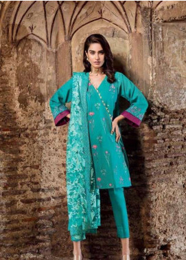 Gul Ahmed Embroidered Lawn Unstitched 3 Piece Suit GAP19L PM-258 - Spring / Summer Collection
