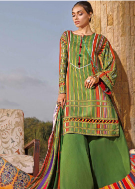 Susi by Gul Ahmed Printed Linen Unstitched 3 Piece Suit GA20SW LT-26 - Winter Collection