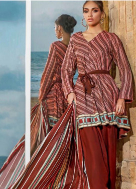 Susi by Gul Ahmed Printed Linen Unstitched 3 Piece Suit GA20SW LT-27 - Winter Collection