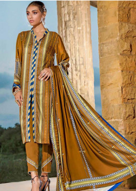 Susi by Gul Ahmed Printed Linen Unstitched 2 Piece Suit GA20SW TT-01 - Winter Collection