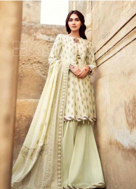 Gul Ahmed Embroidered Lawn Unstitched 3 Piece Suit GA20TJ MJ-37B - Spring / Summer Collection