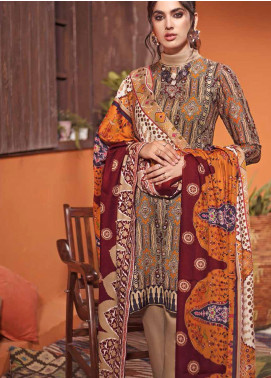 The Colours of Winter by Gul Ahmed Printed Pashmina Unstitched 3 Piece Suit GA20CW AP-35 - Winter Collection