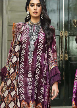 The Colours of Winter by Gul Ahmed Embroidered Velvet Unstitched 3 Piece Suit GA20CW BVL-22 - Winter Collection