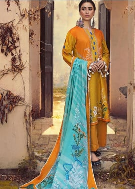 The Colours of Winter by Gul Ahmed Printed Corduroy Unstitched 3 Piece Suit GA20CW CD-38 - Winter Collection