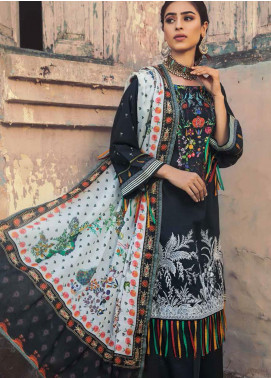 The Colours of Winter by Gul Ahmed Embroidered Corduroy Unstitched 3 Piece Suit GA20CW CD-40 - Winter Collection