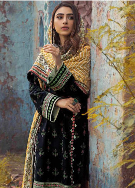 The Colours of Winter by Gul Ahmed Embroidered Corduroy Unstitched 3 Piece Suit GA20CW CD-41 - Winter Collection