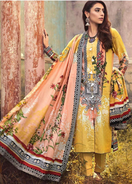 The Colours of Winter by Gul Ahmed Printed Corduroy Unstitched 3 Piece Suit GA20CW CD-42 - Winter Collection