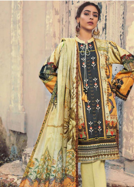 The Colours of Winter by Gul Ahmed Embroidered Corduroy Unstitched 3 Piece Suit GA20CW CD-43 - Winter Collection
