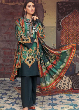 The Colours of Winter by Gul Ahmed Printed Corduroy Unstitched 3 Piece Suit GA20CW CD-44 - Winter Collection