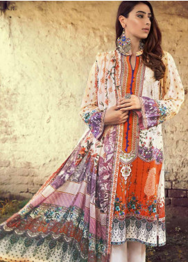 The Colours of Winter by Gul Ahmed Printed Corduroy Unstitched 3 Piece Suit GA20CW CD-46 - Winter Collection