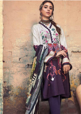 The Colours of Winter by Gul Ahmed Printed Corduroy Unstitched 3 Piece Suit GA20CW CD-48 - Winter Collection