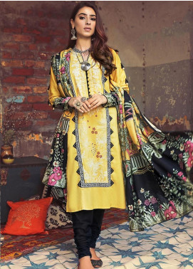 The Colours of Winter by Gul Ahmed Printed Corduroy Unstitched 3 Piece Suit GA20CW CD-49 - Winter Collection