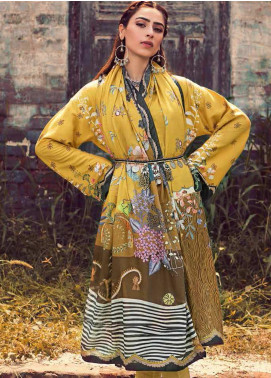 The Colours of Winter by Gul Ahmed Printed Corduroy Unstitched 3 Piece Suit GA20CW CD-50 - Winter Collection