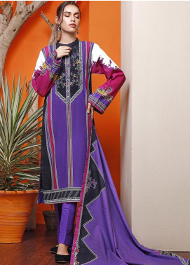 The Colours of Winter by Gul Ahmed Printed Khaddar Unstitched 3 Piece Suit GA20CW K-119 - Winter Collection