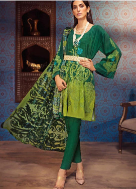 The Colours of Winter by Gul Ahmed Embroidered Velvet Unstitched 3 Piece Suit GA20CW MV-15 - Winter Collection