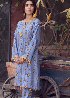 The Colours of Winter by Gul Ahmed Printed Corduroy Unstitched Kurties GA20CW SCD-02 - Winter Collection