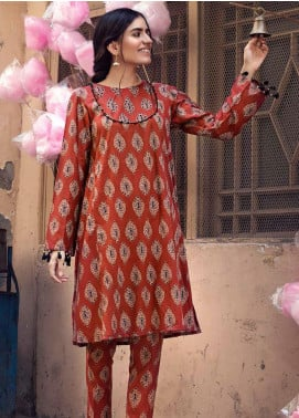 The Colours of Winter by Gul Ahmed Printed Corduroy Unstitched Kurties GA20CW SCD-05 - Winter Collection