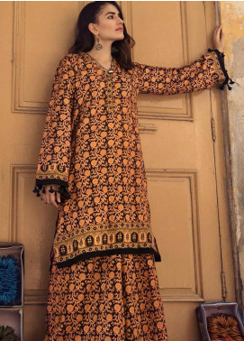 The Colours of Winter by Gul Ahmed Printed Corduroy Unstitched Kurties GA20CW SCD-06 - Winter Collection