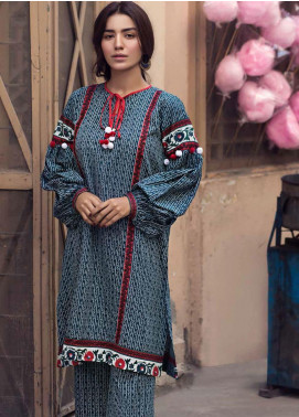The Colours of Winter by Gul Ahmed Printed Corduroy Unstitched Kurties GA20CW SCD-08 - Winter Collection