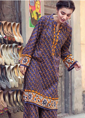 The Colours of Winter by Gul Ahmed Printed Corduroy Unstitched Kurties GA20CW SCD-09 - Winter Collection