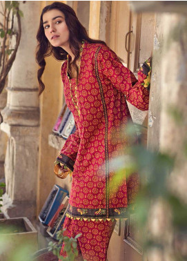 The Colours of Winter by Gul Ahmed Printed Corduroy Unstitched Kurties GA20CW SCD-10 - Winter Collection