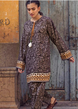The Colours of Winter by Gul Ahmed Printed Corduroy Unstitched Kurties GA20CW SCD-11 - Winter Collection
