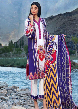 Gul Ahmed Embroidered Corduroy Unstitched 3 Piece Suit GA19W CD-21 - Winter Collection