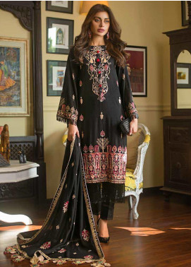 Gul Ahmed Embroidered Khaddar Unstitched 3 Piece Suit GA19W DK-06 - Winter Collection
