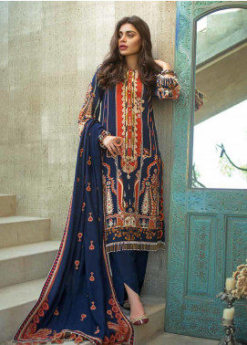 Gul Ahmed Embroidered Khaddar Unstitched 3 Piece Suit GA19W DK-08 - Winter Collection