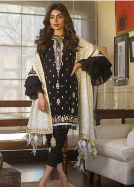 Gul Ahmed Embroidered Khaddar Unstitched 3 Piece Suit GA19W DK-10 - Winter Collection